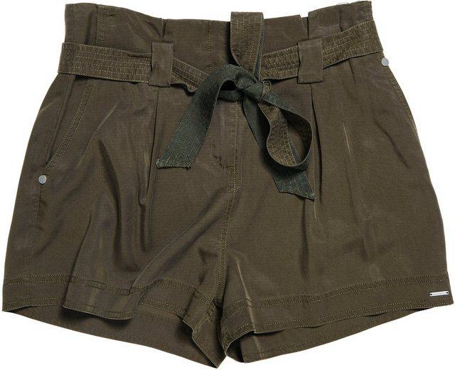 Hosen - Superdry Shorts »DESERT PAPER BAG SHORTS« mit Bindegürtel › grün  - Onlineshop OTTO