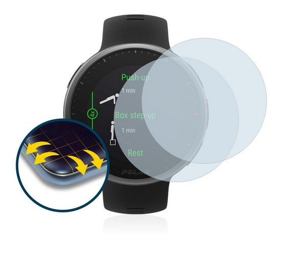 BROTECT Schutzfolie »für Polar Vantage V2«, (2 Stück), Full-Cover 3D Curved klar