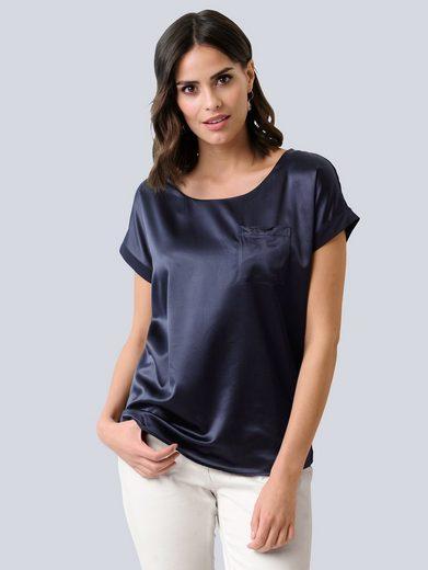 Alba Moda Blusenshirt in schönem Materialmix