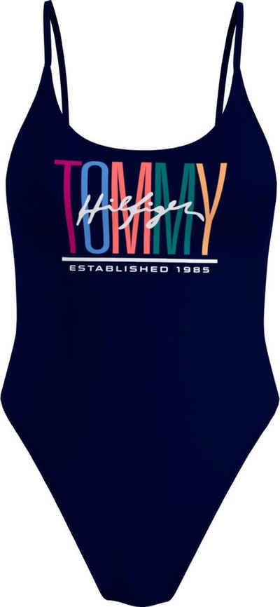 Tommy Hilfiger Badeanzug, mit tiefem Rundhalsausschnitt