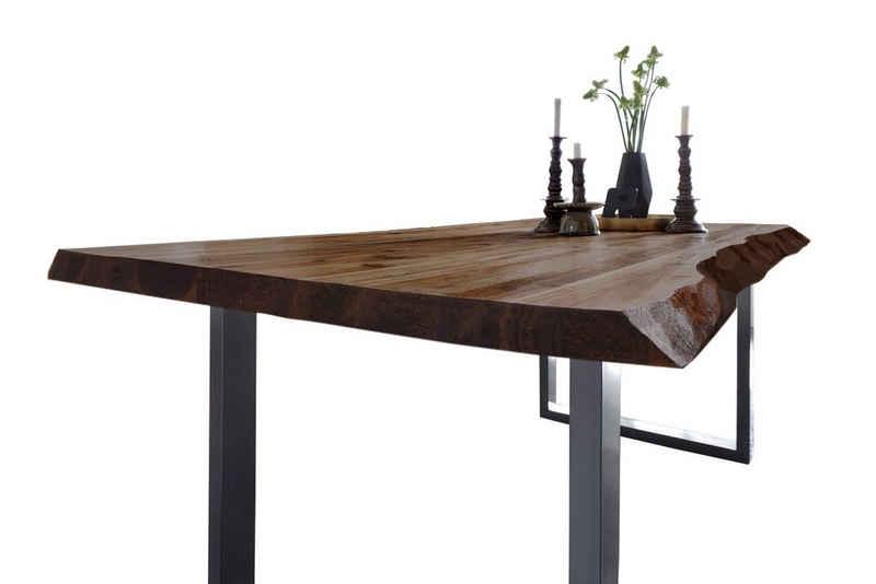 SAM® Baumkantentisch »Memphis«, Akazie Massivholz nussbaumfarben 35mm natürliche Baumkante