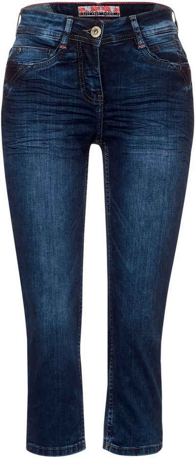 Cecil Jeansshorts »Style Toronto« mit Used-Waschung