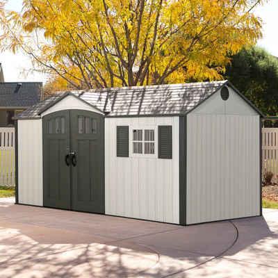 Lifetime Gerätehaus »Texas«, BxT: 381x239 cm, (Set), inkl. Fußboden, Regale und Werkzeugtasche