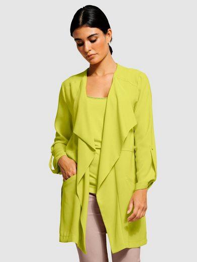 Alba Moda Blusenjacke aus fließender Ware