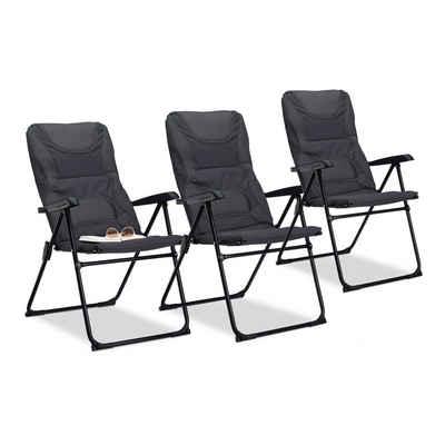 relaxdays Campingstuhl »3 x Campingstuhl gepolstert«