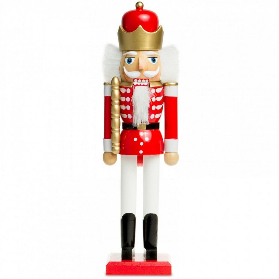 Miniatur 2 Nussknacker Höhe ca 3,2 cm NEU Weihnachtsfiguren Holzfiguren Seiffen