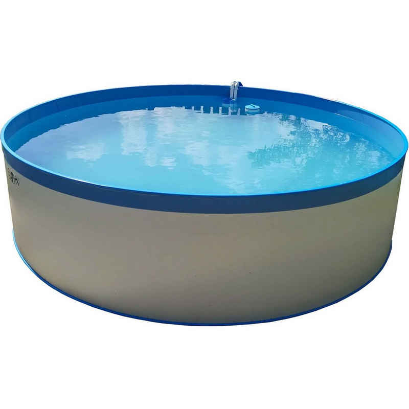 Planet Pool Rundpool »PLANET POOL Rundbeckenset Acapulco Ø 450x90cm (SW:«