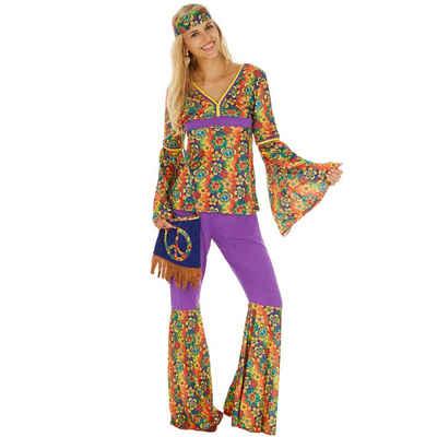 tectake Hippie-Kostüm »Frauenkostüm Hippie«