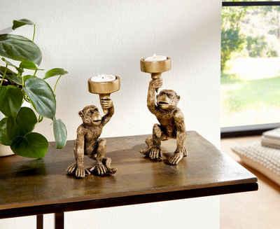 Leonique Kerzenhalter »Monkey« (Set, 2 Stück)