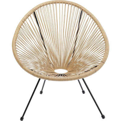 KARE Sessel »Sessel Acapulco Natur«, Gestell: Stahl pulverbeschichtet, Sitzschale: Polyethylen