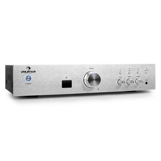 Auna AV2-CD508BT HiFi-Verstärker 600Wmax. AUX Bluetooth silber Verstärker
