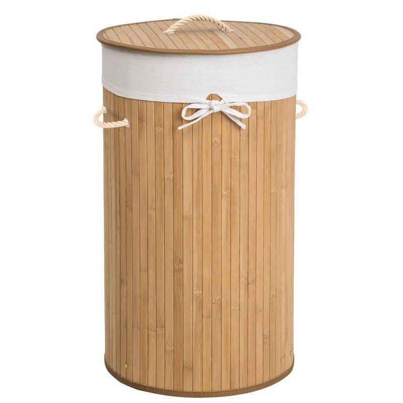 tectake Wäschekorb »Wäschekorb mit Wäschesack rund«