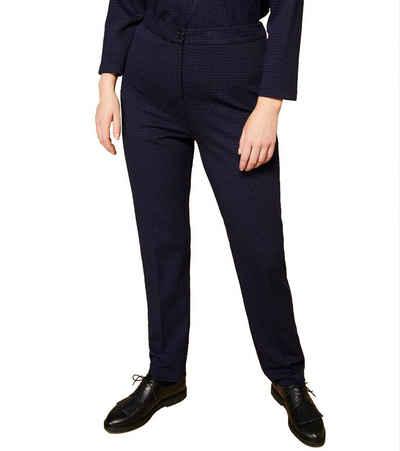 MARINA RINALDI Arbeitshose »persona by MARINA RINALDI Oscar High Waist Hose schmal geschnittene Damen Stoff-Hose Business-Hose Blau/Schwarz«