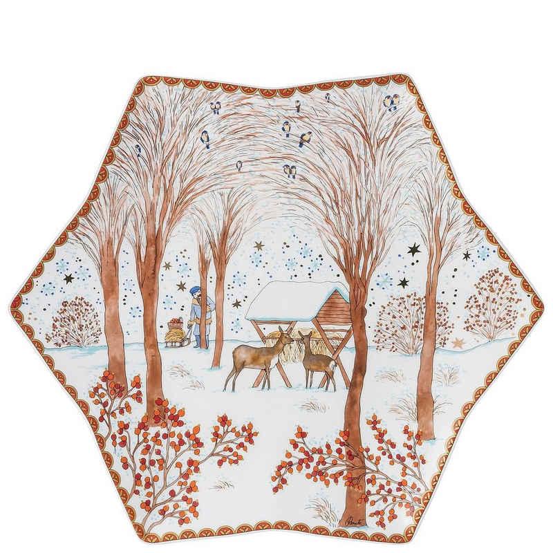 Hutschenreuther Gebäckschale »Sammelkollektion 21 Weihnachtsgaben Sternschale 34 cm«, Porzellan