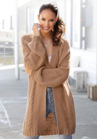 LASCANA Ilgas megztinis su Zopfmuster