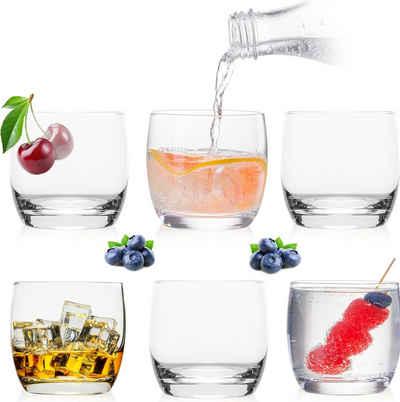 PLATINUX Glas »Trinkgläser«, Glas, 260ml Set 6 Teilig Wassergläser Saftgläser Whiskeygläser