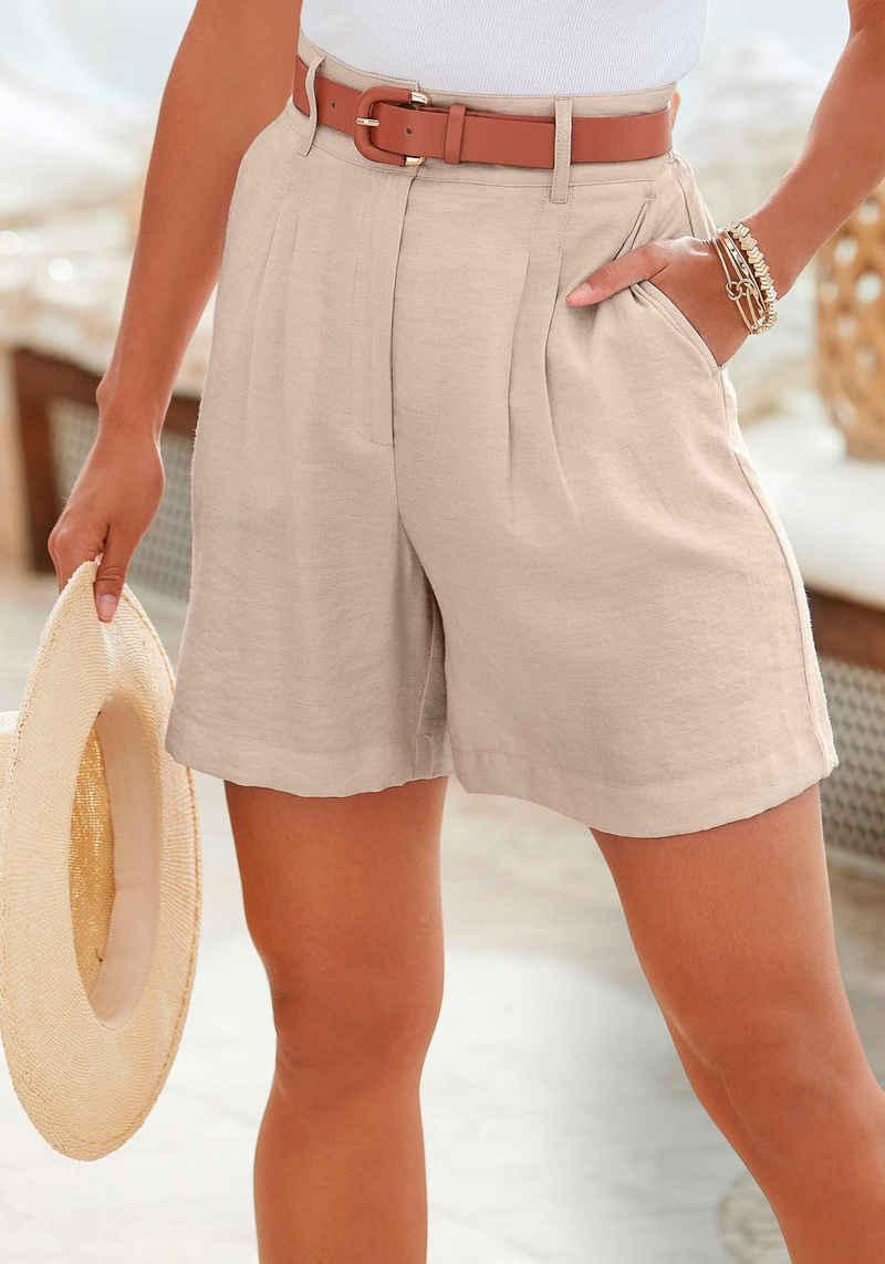 LASCANA Shorts mit lässigem High-waist-Bund