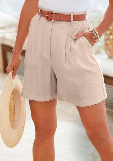 LASCANA Shorts in lässiger High-waist-Bund
