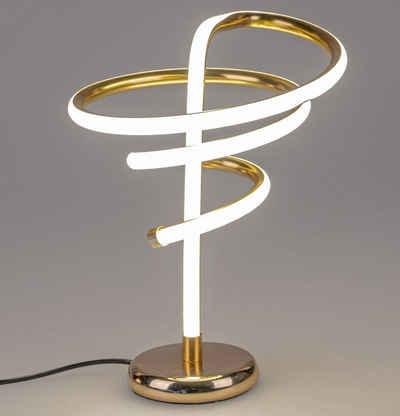 formano LED Tischleuchte »Moderne Spiral LED Tischlampe warmweiß goldfarben«