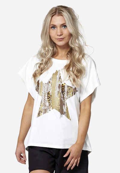 NÜ T-Shirt »Freja« Cooler Print auf der Vorderseite