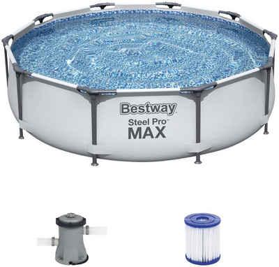 Bestway Rundpool »Steel Pro MAX™ Frame« (Set), ØxH: 305x76 cm
