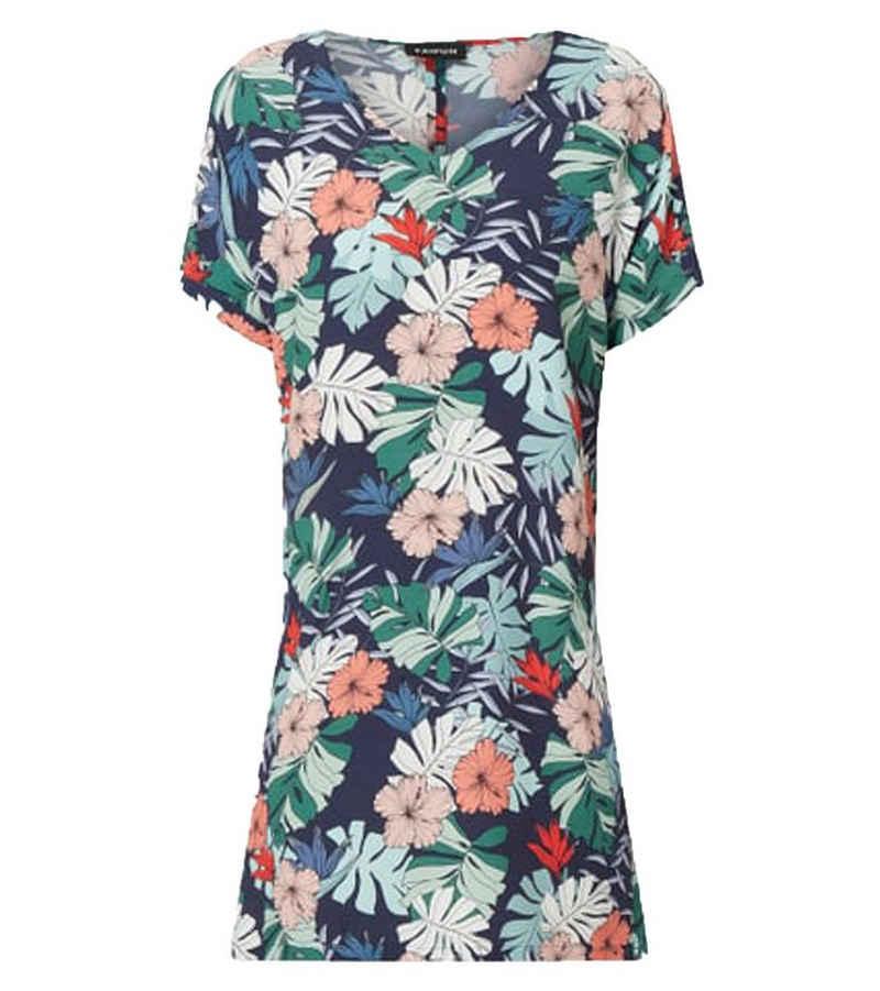 Taifun Sommerkleid »TAIFUN Tropical Break Kleid sommerliches Damen Blumen-Kleid mit kurzen Ärmeln Freizeit-Kleid Bunt«
