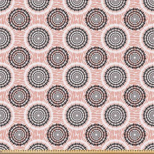 Abakuhaus Stoff »ausdehnbar mit Elestan für Heimwerkarbeiten und Näharbeiten«, Pfirsich Zusammenfassung Weiche Kreise