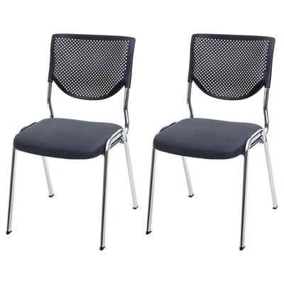 MCW Stapelstuhl »H401-2« (Set), 2er-Set, Ergonomisch geformte Rückenlehne, Fußbodenschoner