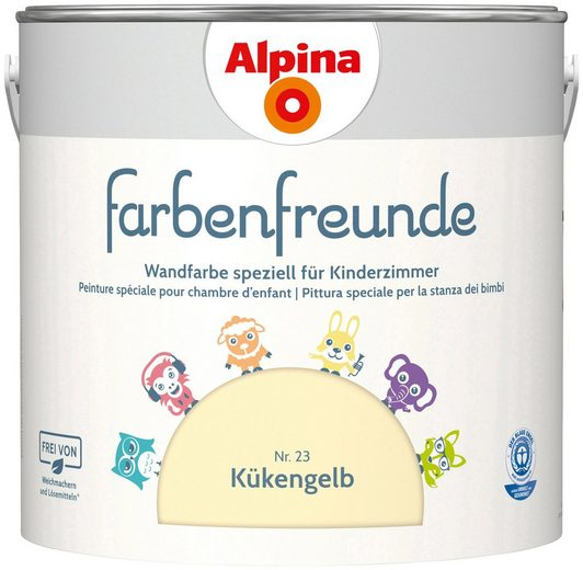 ALPINA Wand- und Deckenfarbe »Farbenfreunde«, Kükengelb 2,5 l