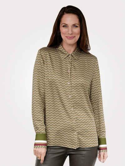 Mona Hemdbluse mit attraktivem Druckmix