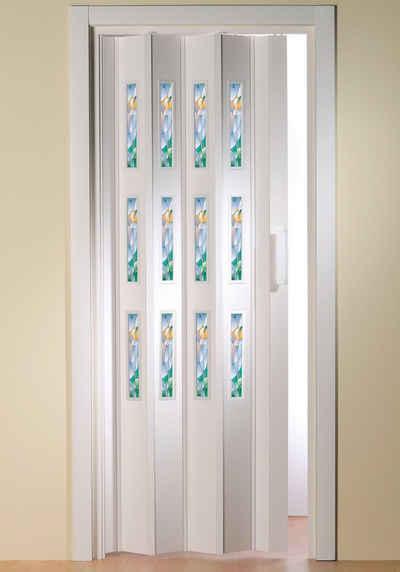 Falttür »Dekor 5 Mosaik«, BxH: 88,5x202 cm, mit dekorativem Motiv im Fenster
