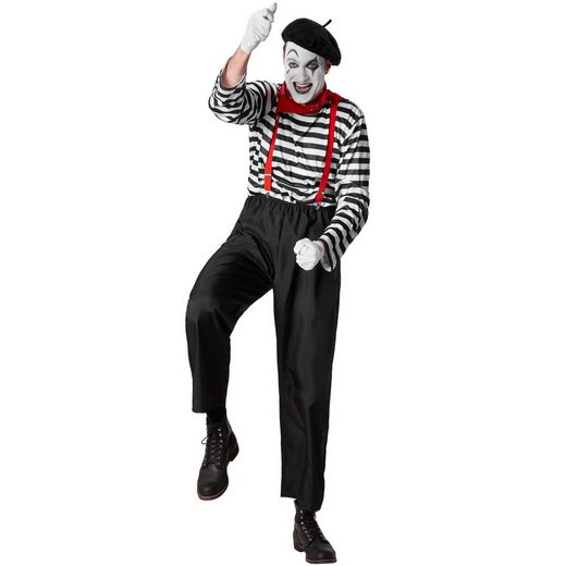 tectake Clown-Kostüm »Herrenkostüm Klassischer Pantomime«