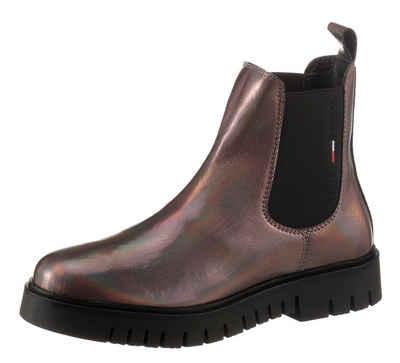 Tommy Jeans »IRIDESCENT PATENT CHELSEA BOOT« Chelseaboots mit Metallic Effekten