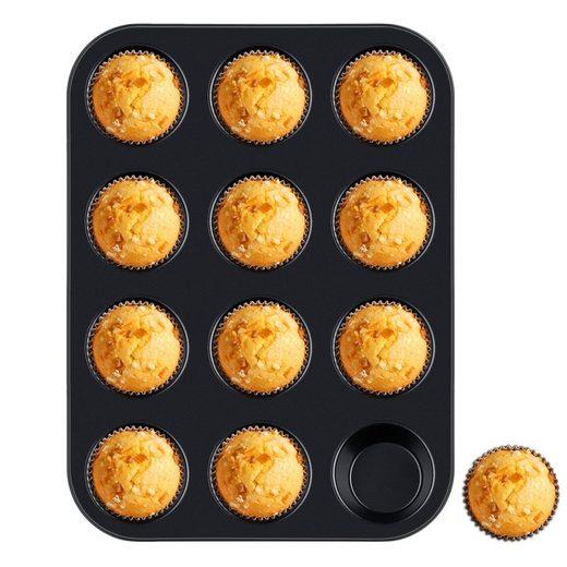 Homewit Backform »12 Mulden Muffinbackform«, (Set 1-tlg), 35x26.5x3 cm Muffinform für 12 Muffins