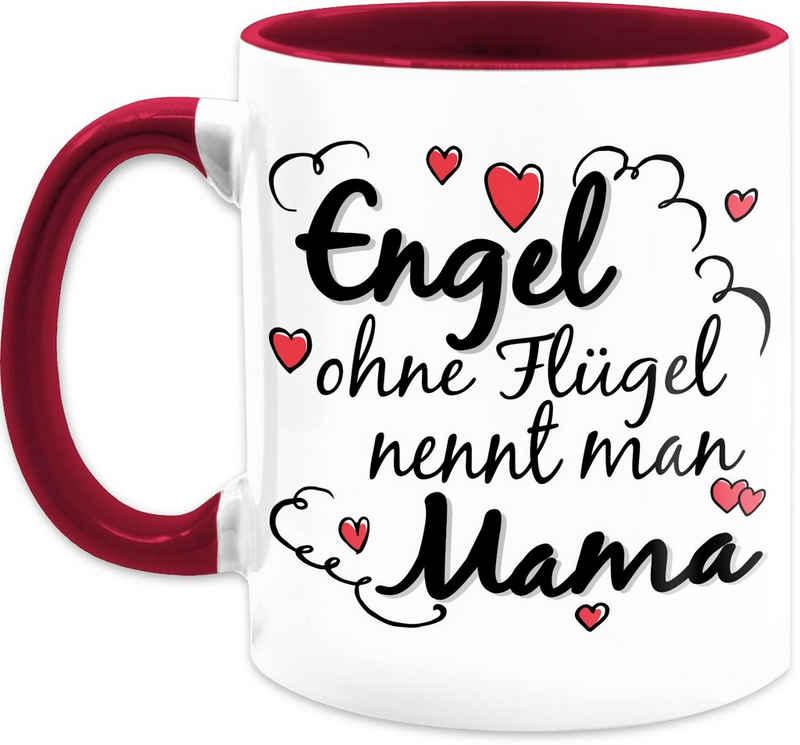 Shirtracer Tasse »Engel ohne Flügel nennt man Mama Tasse - Muttertagsgeschenk Tasse - Tasse zweifarbig«, Keramik