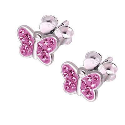 schmuck23 Paar Ohrstecker »Kinder Mädchen Ohrringe Schmetterling 925 Silber«, Schmuck für Kinder Damen und Mädchen
