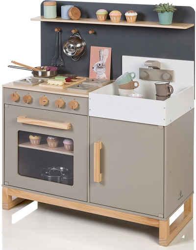 MUSTERKIND® Spielküche »Linum, warmgrau/natur« Holz