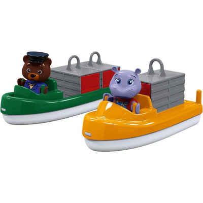 Aquaplay Wasserbahn »Bootset Container- & Transportboot inkl. 2 Figuren«