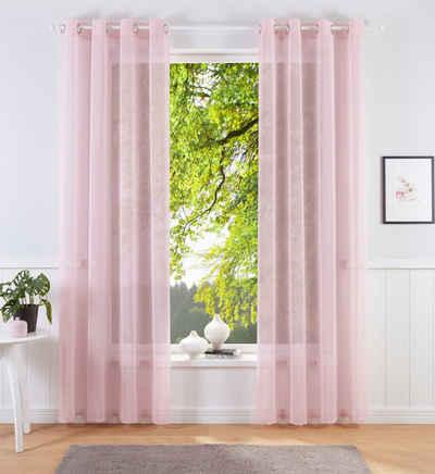 Vorhang »Josie«, Lüttenhütt, Ösen (1 Stück), einfarbige Kindergardine