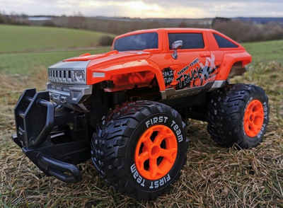 BruKa RC-Auto »RC Monster Truck X-WOLF ferngesteuertes Auto Geländewagen Pick Up Licht RTR«