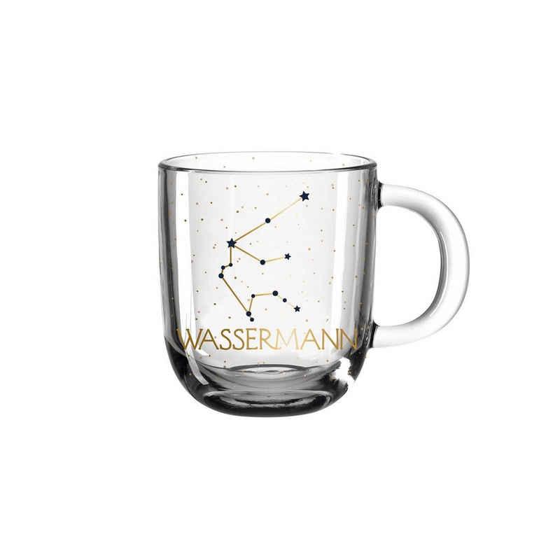 LEONARDO Tasse »Astro Becher Sternzeichen Wassermann 0,3l«, Glas