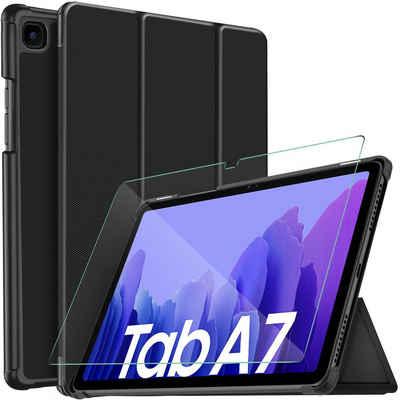 IVSO Tablet-Hülle »Hülle Kompatibel mit Samsung Galaxy Tab A7 10.4 2020,« Samsung Galaxy Tab A7 T505/T500/T507 10.4 Zoll 2020 10.4 inch, Mit Panzerglas, Slim Hochwertiges PU Schutzhülle mit Displayschutz Kompatibel mit