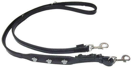 HEIM Hundeleine »Krone«, schwarz, Länge: 200 cm