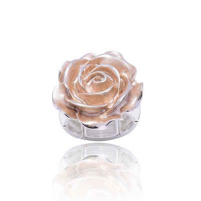 Mein Style Fingerring »elastischer Ring Rose braun RM 008«, elastischer Ring
