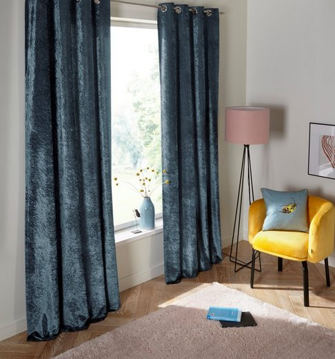 Vorhang »Velvet«, my home, Ösen (1 Stück), Samt Uni