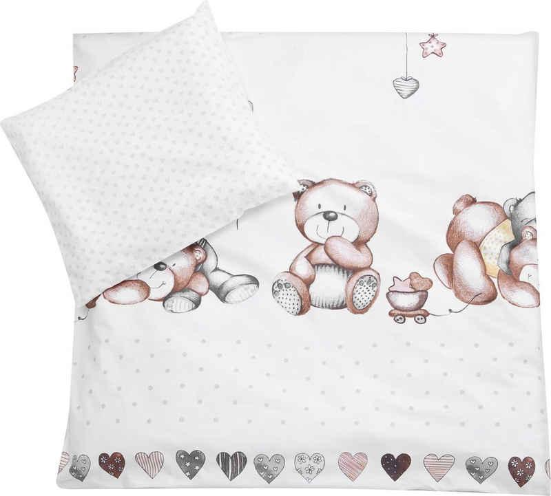 Kinderbettwäsche »Schmusebär«, Julius Zöllner, mit Teddybären