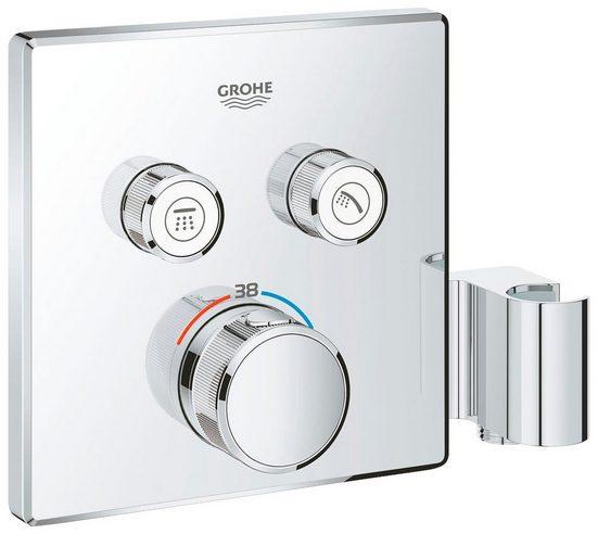 Grohe Unterputzarmatur »Grohtherm SmartControl« (Set) Thermostat mit 2 Absperrventilen und integriertem Brausehalter