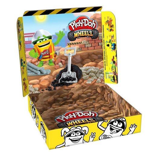 Hasbro Knete »Play Doh Baustellen Knete 4er Pack«, (4er Pack Baustellenknete, 4-tlg), 4 Dosen Baustellen-Knete je 224g (896g Knete) mit integrierter Form im Deckel 1 Knetwerkzeug