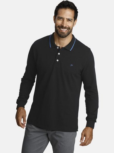 Jan Vanderstorm Langarm-Poloshirt »ELLIS« hochwertige Pikee-Qualität