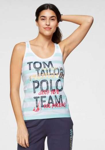 TOM TAILOR Polo Team Tanktop mit großem Logo-Druck
